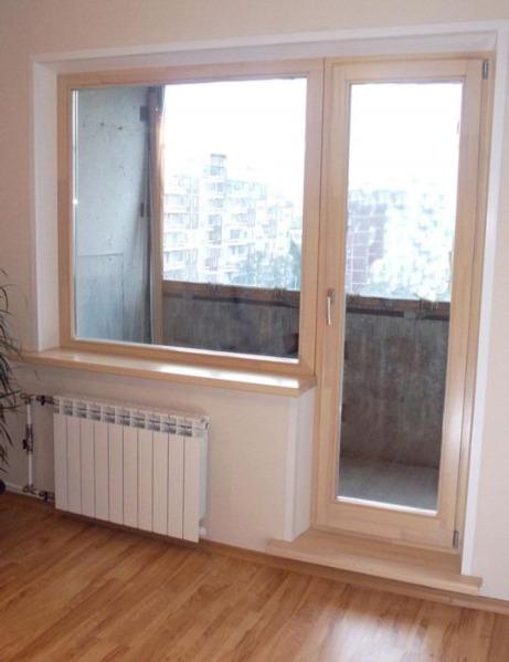Деревянный балконный блок из ангарской сосны для панельного .
