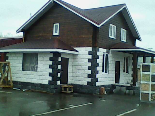 готовые дома из керамзитоблоков видео фото