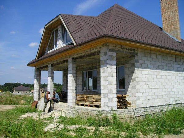 Построить дом своими руками проекты фото из шлакоблока